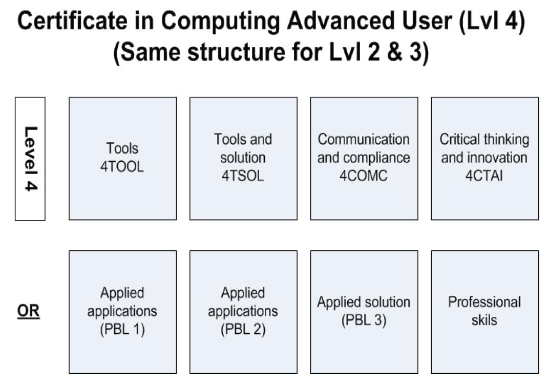 Cert Computing Advanced User Level 4