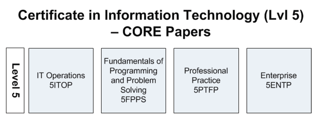 Certificate in Information Technology Core Papers Level 5